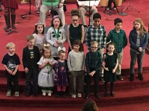 Photo of our Children's Choir.