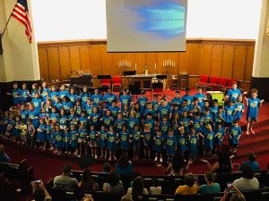 Photo of closing day VBS 2019.