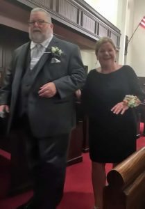 Proud Mother and Father of the Bride.