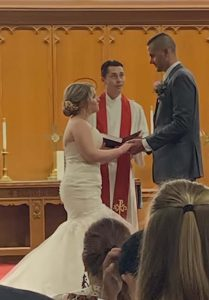 Haley and Conor giving their vows.