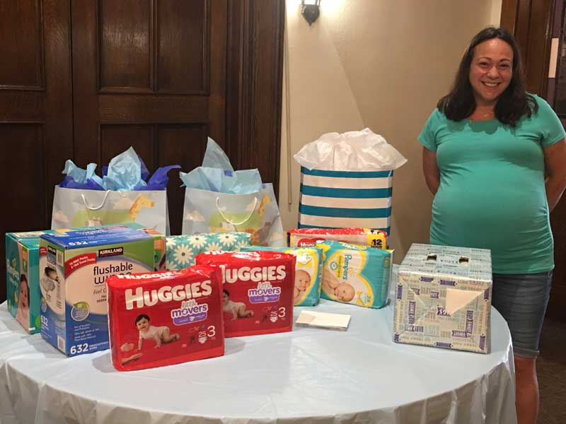 Allisyn Wolfe's Diaper Shower given by the Deacons