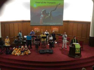 "Celebrating ""Feast of the Trumpets "" on Sunday."