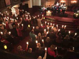Photo of our candlelight service.