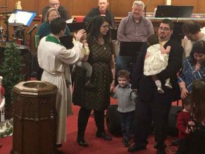 Photo of Piscitella Twins Baptism and Anointing.