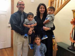 Photo of missionaries Sal and Terrilyn Pacella and their children.