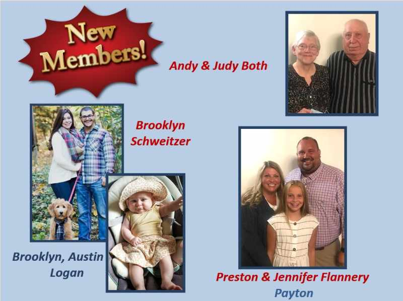 Welcome to our new members in August.
