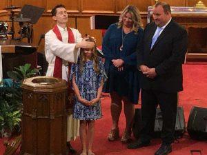 Payton Flannery Baptism on September 27, 2020.