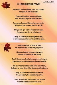A Thanksgiving Prayer<br><small><em>Click to see full size image</em></small>