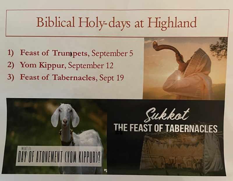 Holy Days in September.